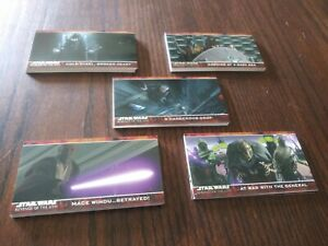 Set 58 Star Wars Revenge of the Sith Widevision Movie Cards