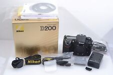 EXC++ BOXED NIKON D200 10.2MP DIGITAL SLR BODY, COMPLETE, MANUALS, 10K ACTS