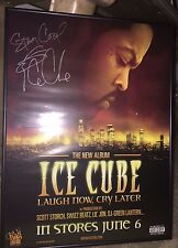 Ice Cube Laugh Now Cry Later Limited Edition Framed Autographed Poster 2006 Rare
