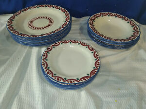 HARTSTONE POTTERY~Holiday Dining Set~Service for 4~Hand-Painted~NICE!
