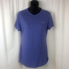 Adidas Womens Medium Ultimate Tee T Shirt V-Neck Purple Short Sleeve