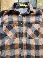 Vintage Big Mac Plaid Cotton Flannel Shirt Size Medium Tall