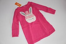 Gymboree Fair Isle Flurry Girls Size 5T Sweater Dress Bunny Hearts  NWT