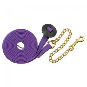 Tough 1 Purple German Cord Cotton 25' Lunge Line horse tack equine 52-2035