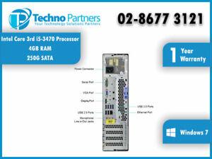 Lenovo ThinkCentre M92p 3209 SFF i5 3470@3.20GHz 4G 250G Win7 Pro 1Year Warranty
