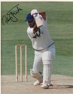 Cricket NADEEM SHAHID Signed Surrey Original Press 10x8 Colour Photo