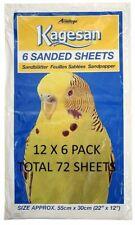 KAGESAN XL  55X30CM BULK BUDGIE BIRD PARROT CAGE SAND SHEETS 12X6 (72)PACK BULK