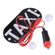 Auto Weiß 45 LED Cab Taxi Taxischild Dachzeichen Licht Taxileuchte Lampe Stecker