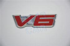 Fender Hood Car Pick Up V6 Emblem V6 6 Cylinder Engine Aluminum Emblem Badge x1