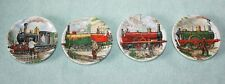 Set of 4 Locomotive Train Small Mini Plates Decorative Atelier Delft's Argentina