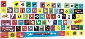 Universal Keyboard stickers Superhero, Marvel, Avengers, Batman, Superman Decal