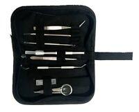 Vinyl Weeding Pick Tools Stainless Steel Prof . Sign Making  8 pc + case Kit Set