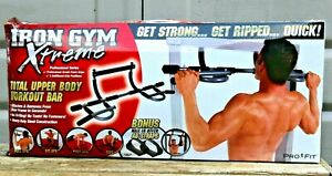 IRON GYM XTREME TOTAL UPPER BODY WORKOUT BAR PULL UPS CHIN UPS DIPS SIT UPS NEW