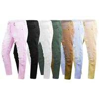New Men Denim Ripped Premium Distressed Jeans Pants Slim Straight Fit 32-44