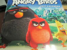ANGRY BIRDS 2017 16 MONTH WALL CALENDAR NEW SHRINK WRAPPED