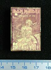 Pin Badge Underground USSR PROHIBITED vintage IRON MAIDEN Somewhere in Time RARE