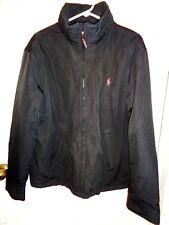 Men's POLO by RALPH LAUREN Long Sleeve Zipper Lined Jacket Black L Hood