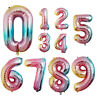 32inch Colorful Number Aluminium Foil Balloon Rainbow Birthday Party Decor Gift