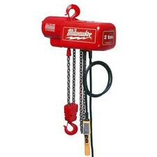 Milwaukee 9565 1 Ton Capacity 10-Foot Lift Electric Chain Hoist - Bare Tool