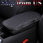 Universal Car Center Console Box Armrest Cushion Cover Pu Leather Pad Protector