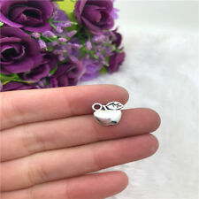 10pcs Apple Charm Tibetan Silver Bead Finding Jewellery Making 10x10mm