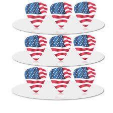 American flag style Plectrum/Pick, Medium 0.71 Pack of 4, free postage