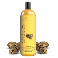 Naturals Cold Pressed Castor Oil  Promotes Hair Growth Helps Damaged Hair 200ml