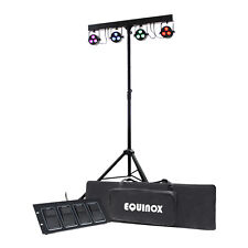 Equinox Microbar Quad System EQLED60A LED Par Panels T-bar Stand Foot Controller