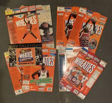 Wheaties Box Michael Jordan NFL Football Lot of 8 With 1999 Calendar Space Jam