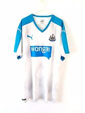 Newcastle United Away Shirt 2015. XL. Puma. White Adults Utd Football Top Only.