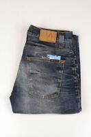 33339 Nudie Jeans Grim Tim Used Blackcoated Bleu Hommes Jean Taille 34/34