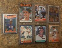 (7) Will Clark 1986 USA Promo Fleer Topps Donruss Rookie Card Lot RC Giants 1987