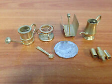 Lot of 5 Pieces Of Miniature Brass Dolls House Furniture - lot 10