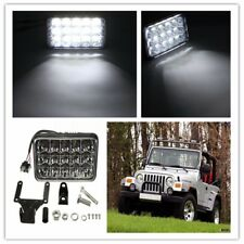 "4""x6"" 45W 15LED Bulb Clear Sealed Beam Working HeadLight HeadLamp Truck 12V 24V"