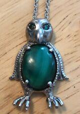 Green Penguin Pendant Necklace