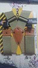 Men's Industrial Strength Suspenders, One Size, Khaki