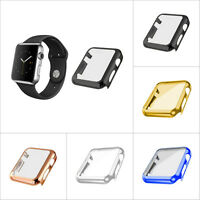 Screen Protector Metal Plated Full Body Case For Apple Watch 1/2 38/42mm FG