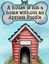 APRICOT POODLE A House Home Magnet