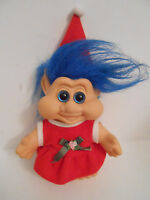 Vintage ITB Holiday Christmas Santa Elf Girl Troll Doll 6.5""
