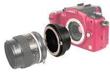 Adattatore Obiettivo Adattatore si inserisce Nikon G baionetta a m4/3 FOTOCAMERA PANASONIC gh2 gx1
