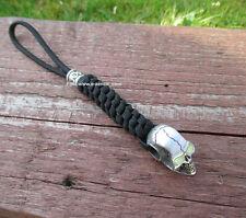 Schlüsselanhänger aus Paracord mit Skull Anhäng. als Lanyard für Taschenmesser
