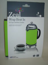 New Zeal Cafetiere Insulated Thermal Heat Wrap Jacket 12 Cup Lime Green C125