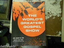 THE WORLD'S GREATEST GOSPEL SHOW - program - 3/28/76 - Detroit's Cobo Arena