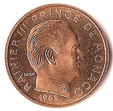 MONACO 50 centimes essai OR 1962, frappé à slt 500 ex.