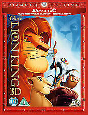 The Lion King (3D Blu-ray, 2011, 3-Disc Set, Box Set) Brand new & Sealed