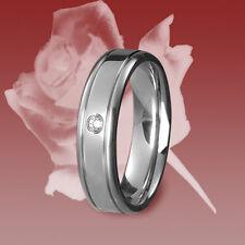 1 Edelstahl Ring, Freundschaftsring, Verlobungsring, Ehering, Trauring, Zirkonia