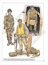 PLANCHE UNIFORMS PRINT WWII US ARMY 505/503rd Regiment Infantry Parachute Sicily
