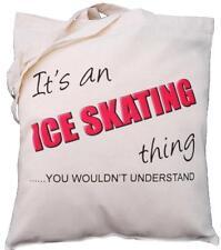 Es una de patinaje sobre hielo cosa-usted no entender-algodón natural bolso de hombro
