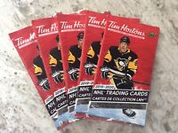 2019-20 Upper Deck Tim Hortons Packs  NHL Hockey Cards Crosby (5 )Unopened Packs