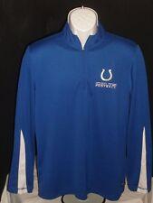 Nfl Team Apparel Indianapolis Colts Blue/White 1/2 Zip Poly Shirt Mens Sz. M
